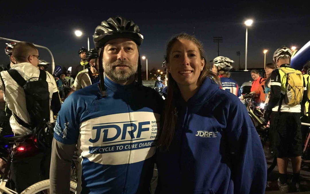 Charity ride for JDRF: London Night Rider last weekend
